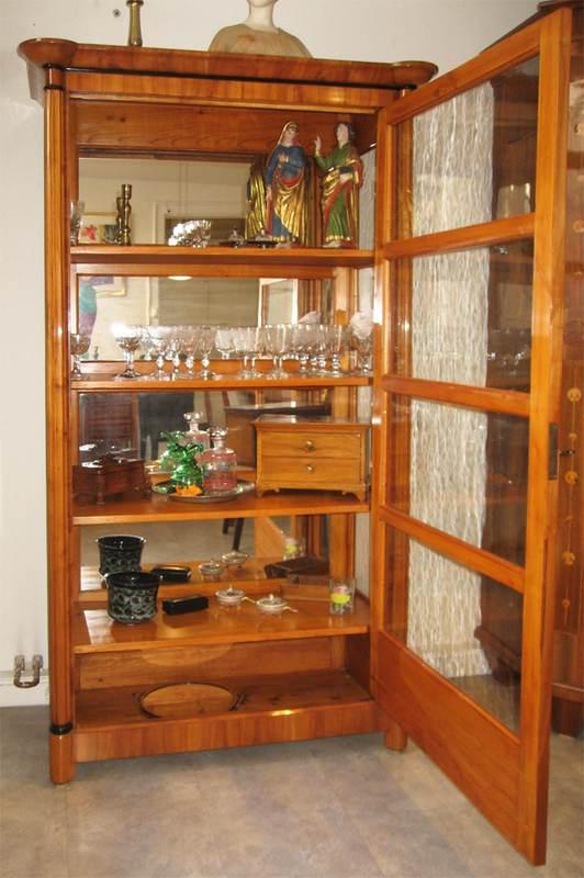 Antiquit ten fridrich vitrinen for Kirschbaum vitrine